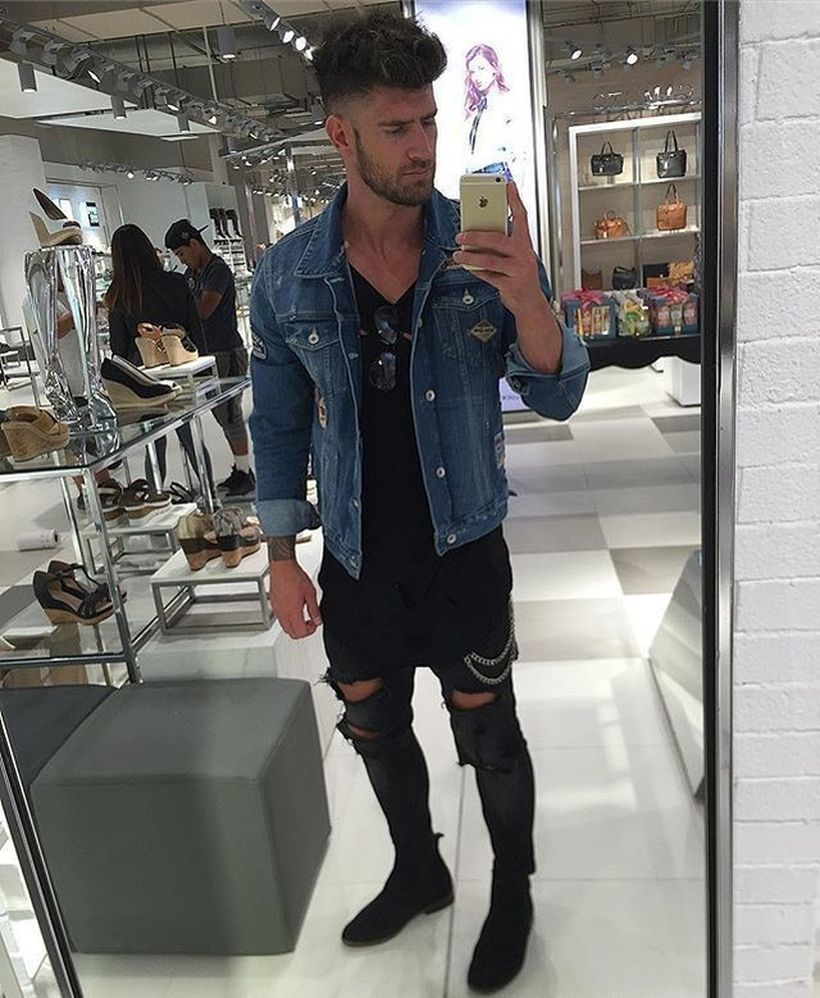 Stylish men's jeans outfits ideas in 2017 36