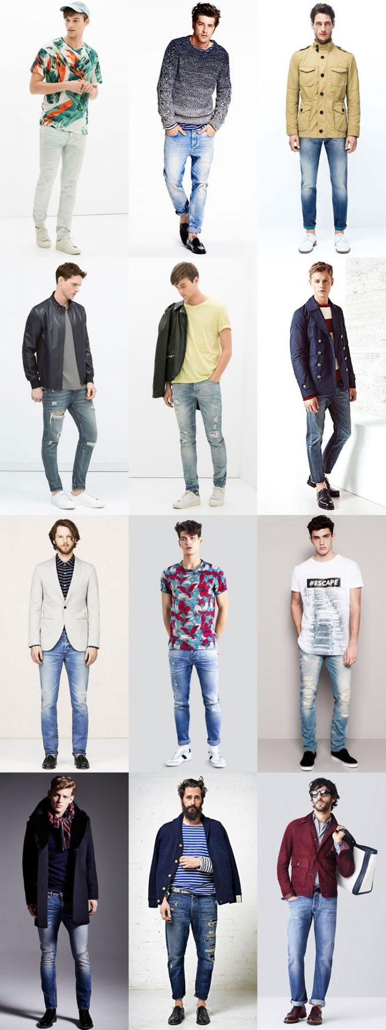 Stylish men's jeans outfits ideas in 2017 9