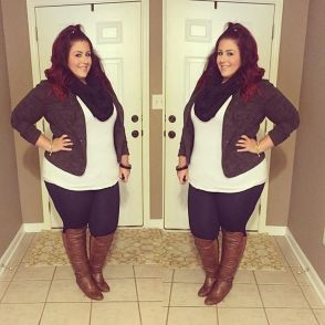Stylish plus size outfits for winter 2017 134