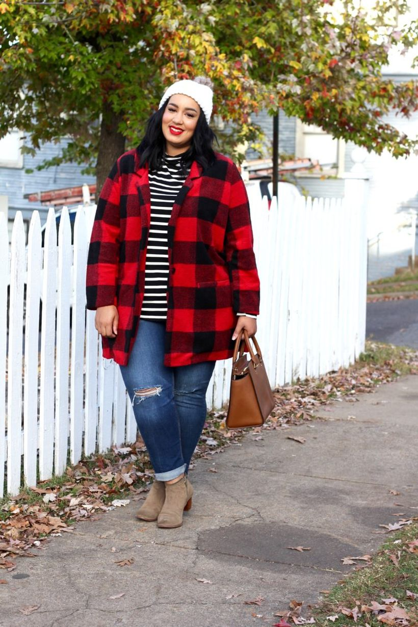 Stylish plus size outfits for winter 2017 26