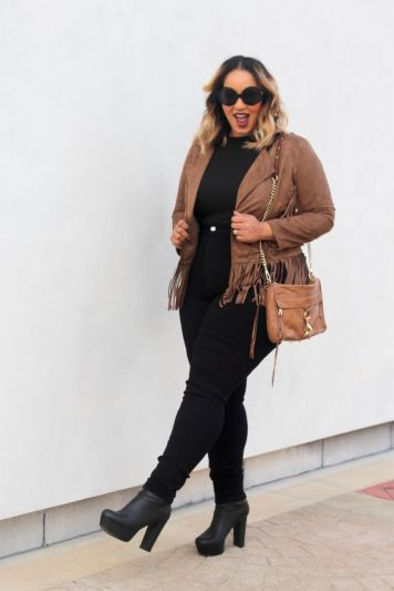 Stylish plus size outfits for winter 2017 35