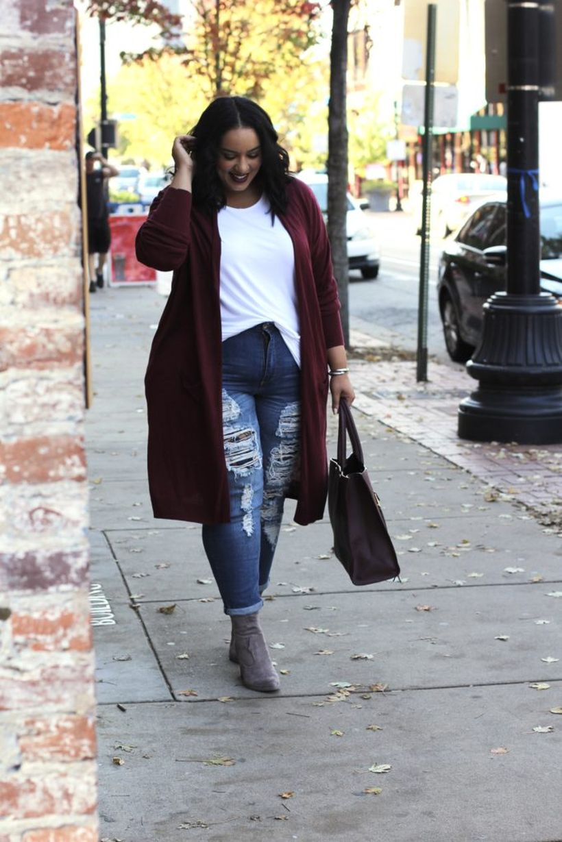 Stylish plus size outfits for winter 2017 39