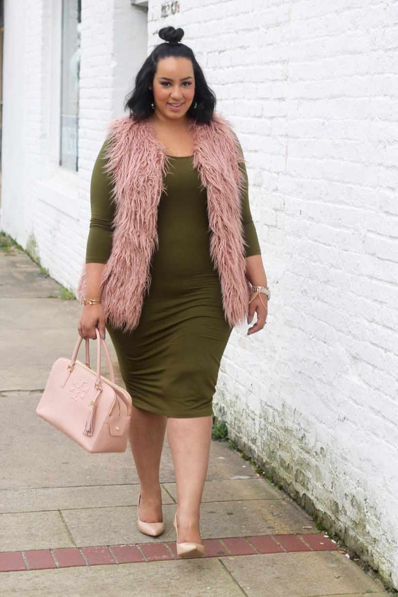 Stylish plus size outfits for winter 2017 4