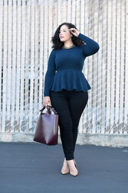 Stylish plus size outfits for winter 2017 48