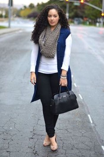 Stylish plus size outfits for winter 2017 87