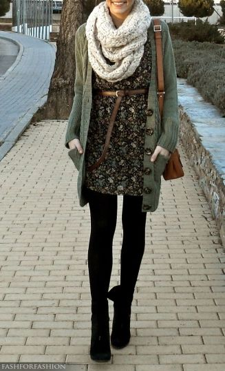 Tips how to wear cardigans and leggings in this fall 106