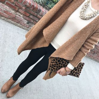 Tips how to wear cardigans and leggings in this fall 19