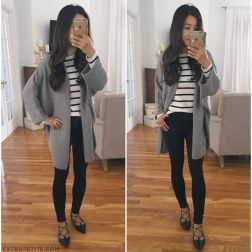Tips how to wear cardigans and leggings in this fall 33
