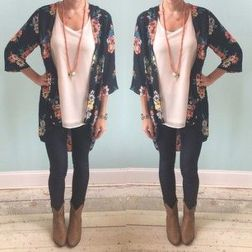 Tips how to wear cardigans and leggings in this fall 34
