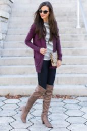 Tips how to wear cardigans and leggings in this fall 59