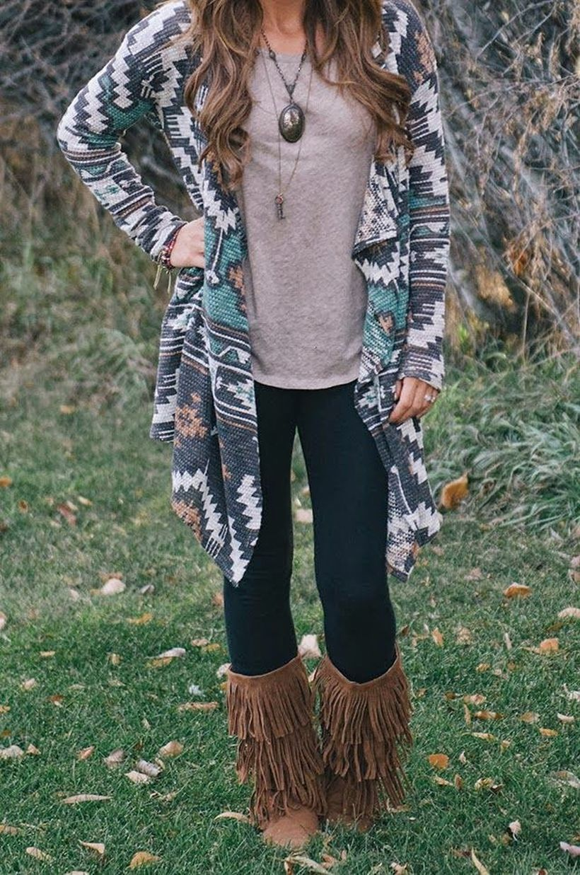 Tips how to wear cardigans and leggings in this fall 99