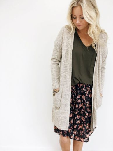 Cardigan outfit 60
