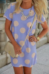 Polkadot short dress 02