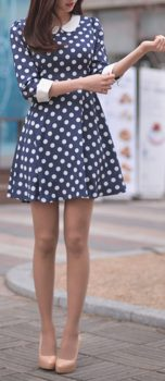 Polkadot short dress 09