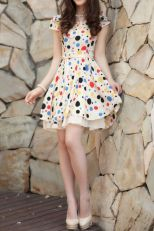 Polkadot short dress 37