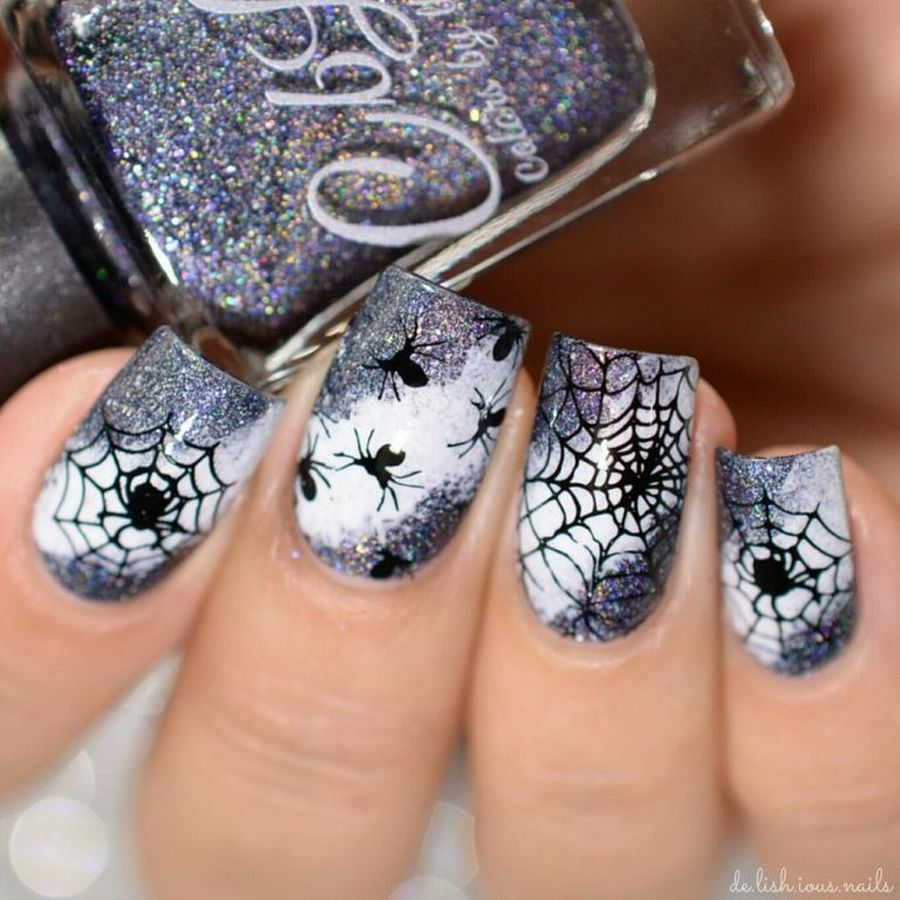 Halloween nails that you must try at halloween party 13