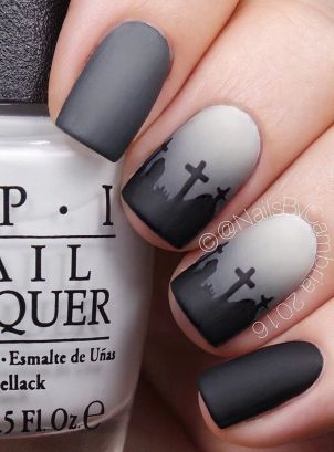 Halloween nails that you must try at halloween party 22