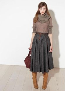 Inspiring skirt and boots combinations for fall and winter outfits 1
