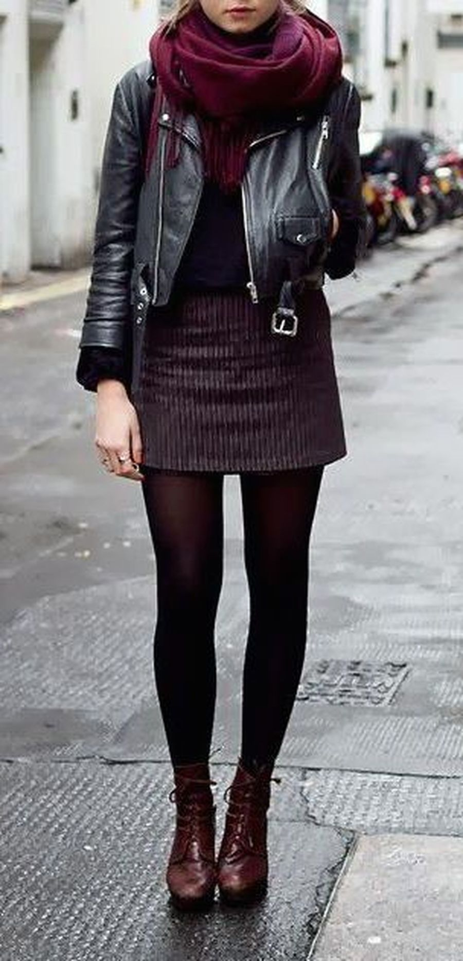 Inspiring skirt and boots combinations for fall and winter outfits 24