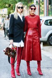 Inspiring skirt and boots combinations for fall and winter outfits 29