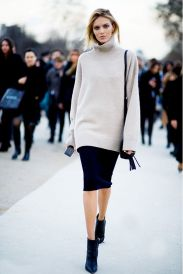 Inspiring skirt and boots combinations for fall and winter outfits 60