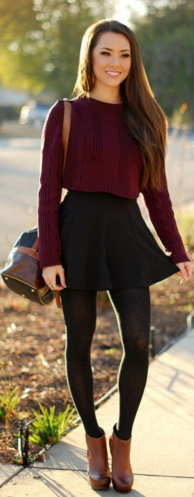 Inspiring skirt and boots combinations for fall and winter outfits 62