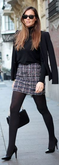 Skirt trends ideas for winter outfits this year 12