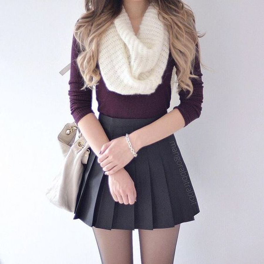 Skirt trends ideas for winter outfits this year 2