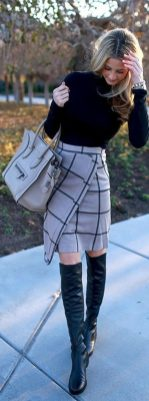 Skirt trends ideas for winter outfits this year 22