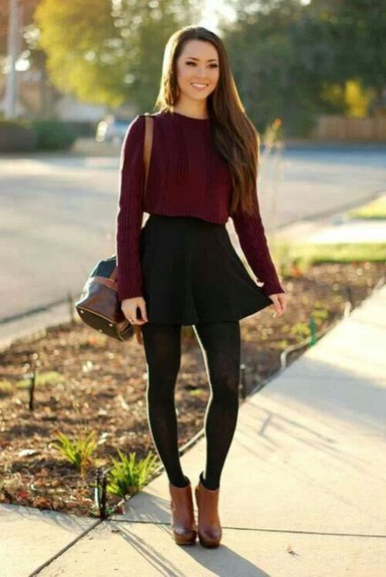 Skirt trends ideas for winter outfits this year 33