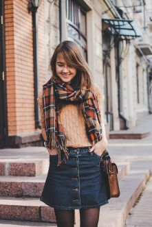 Skirt trends ideas for winter outfits this year 51