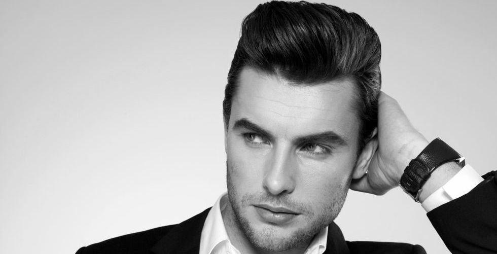 Classy modern pompadour hairstyle