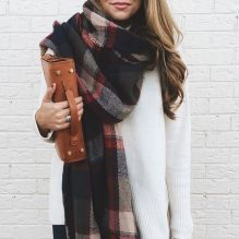 Fashionable scarves for winter outfits 123