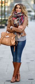 Fashionable scarves for winter outfits 70