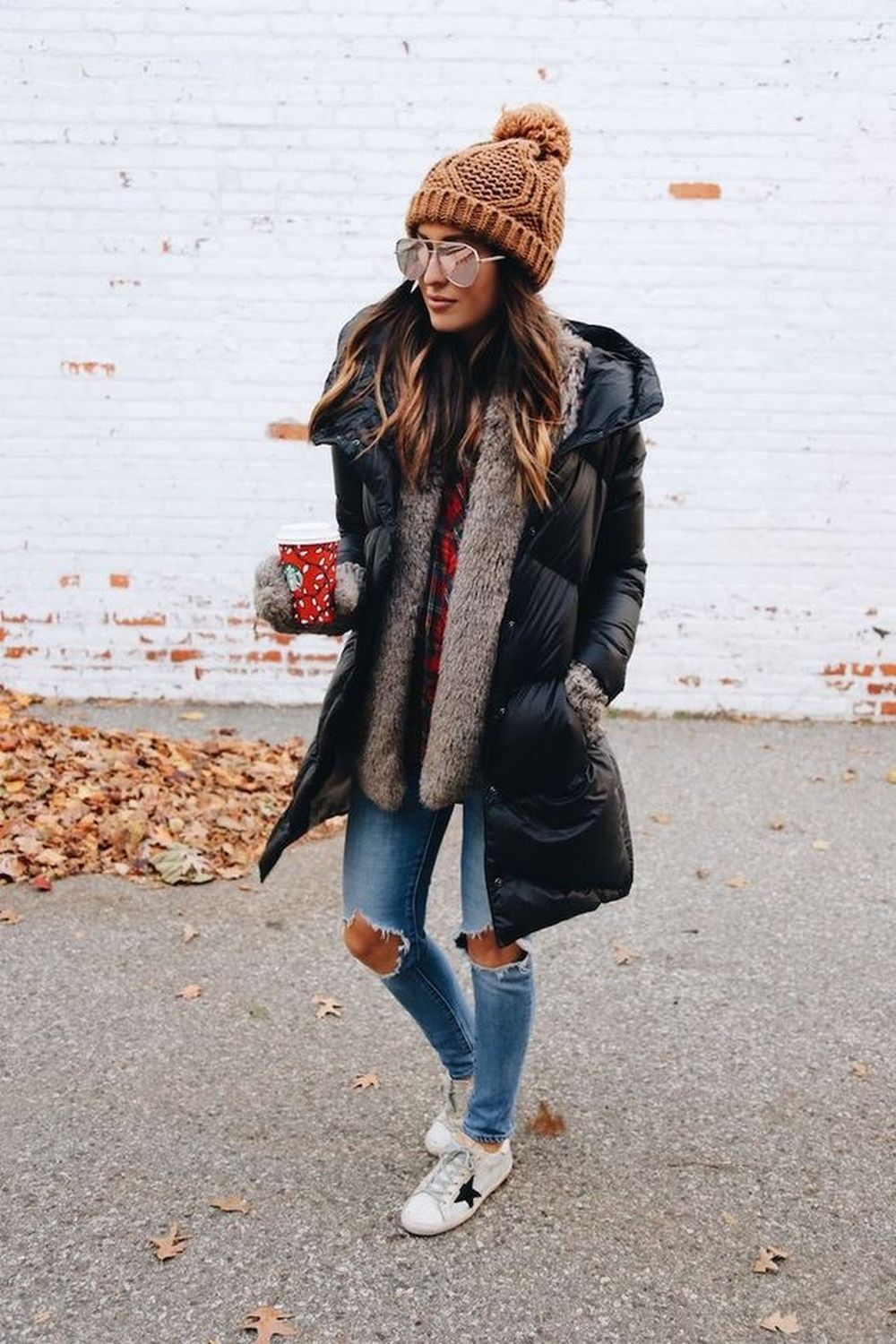 Fashionable scarves for winter outfits 73