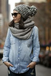 Fashionable women hats for winter and snow outfits 76