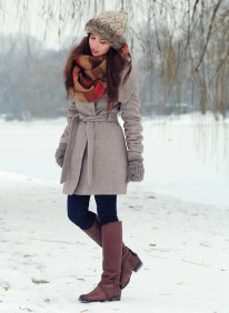 Fashionable women snow outfits for this winter 1