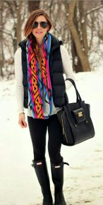Fashionable women snow outfits for this winter 10