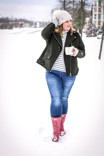 Fashionable women snow outfits for this winter 12