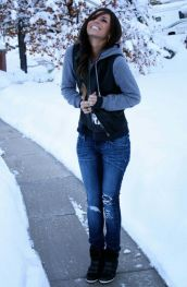 Fashionable women snow outfits for this winter 64