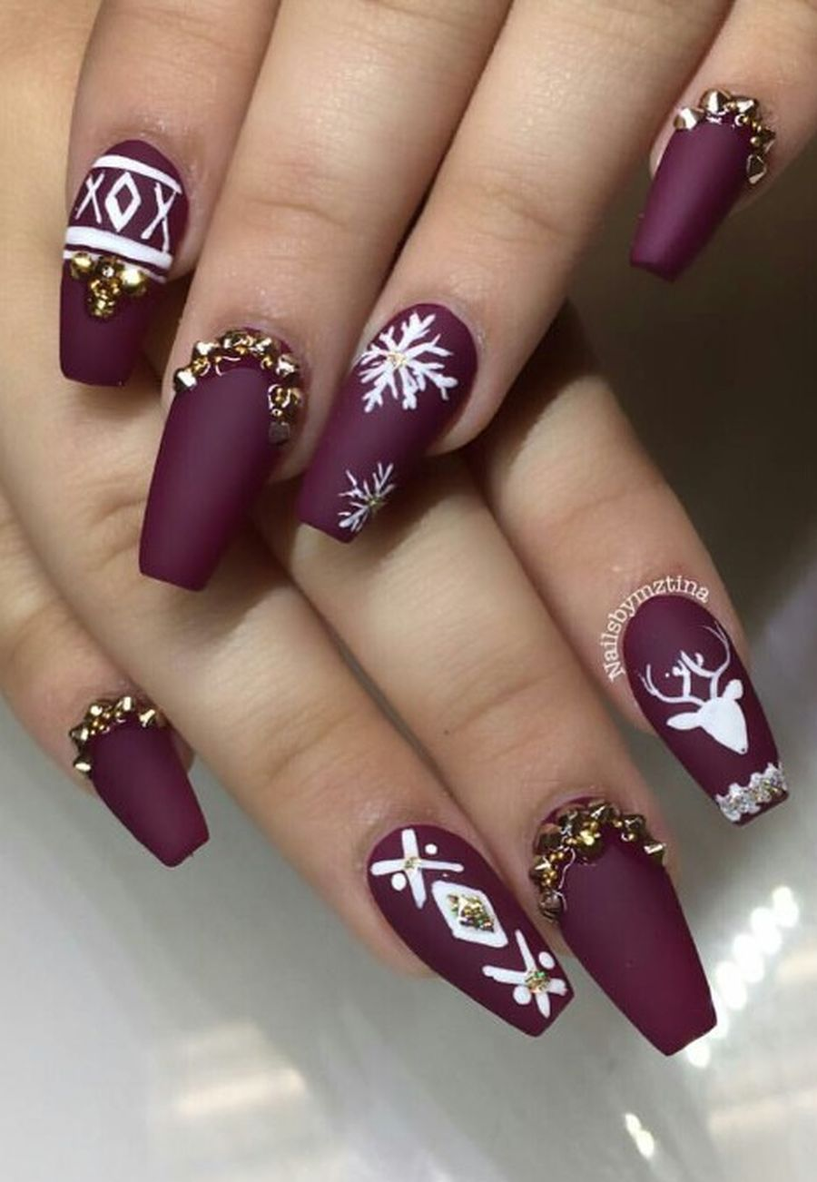 Gorgeous christmas nails ideas 114