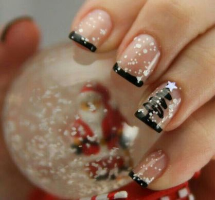 Gorgeous christmas nails ideas 120