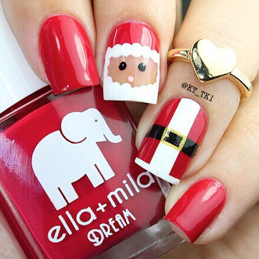 Gorgeous christmas nails ideas 136