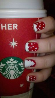 Gorgeous christmas nails ideas 53