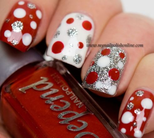 Gorgeous christmas nails ideas 67
