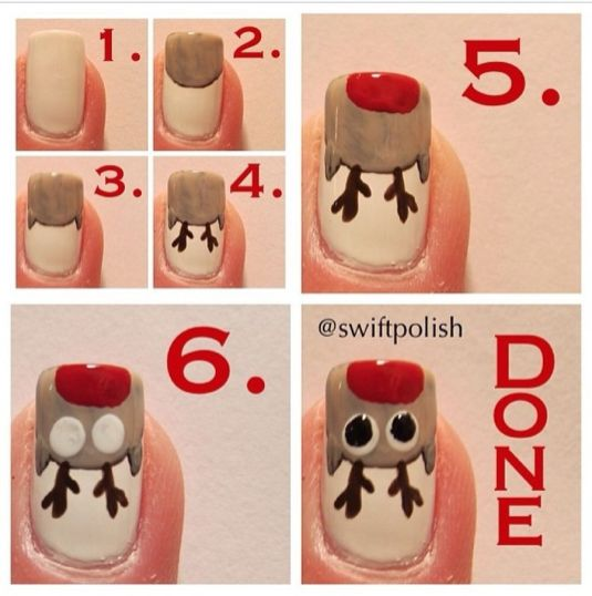 Gorgeous christmas nails ideas 74