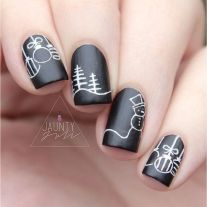 Gorgeous christmas nails ideas 85