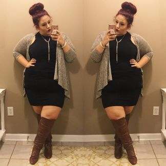 Inspiring winter outfits for plus size 22