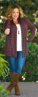 Inspiring winter outfits for plus size 55