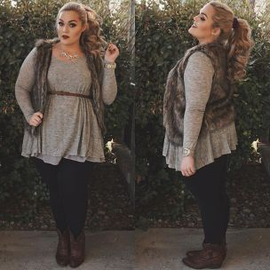 Inspiring winter outfits for plus size 59